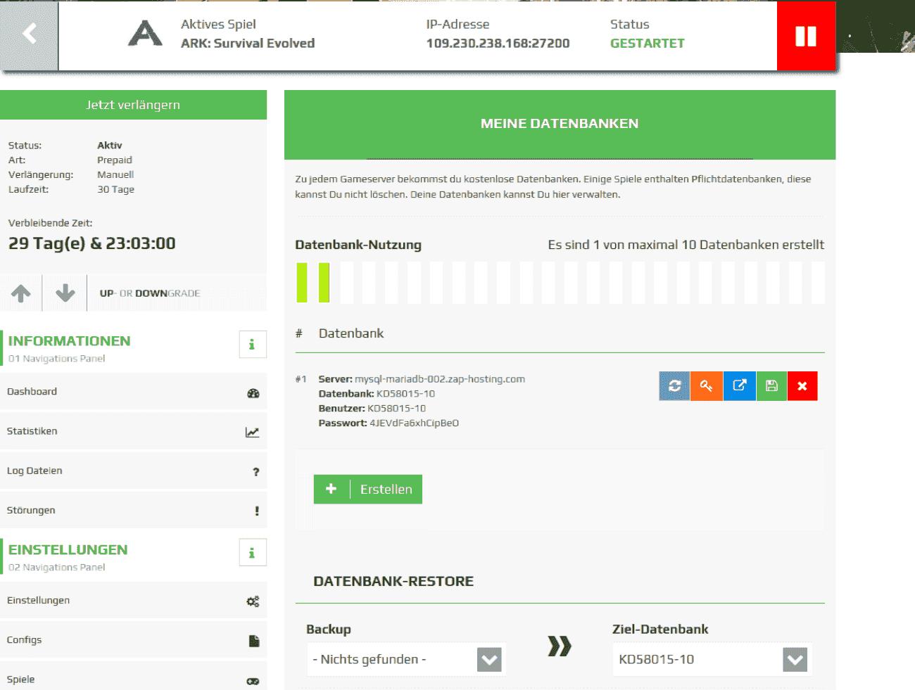 ark server mieten 5 slots